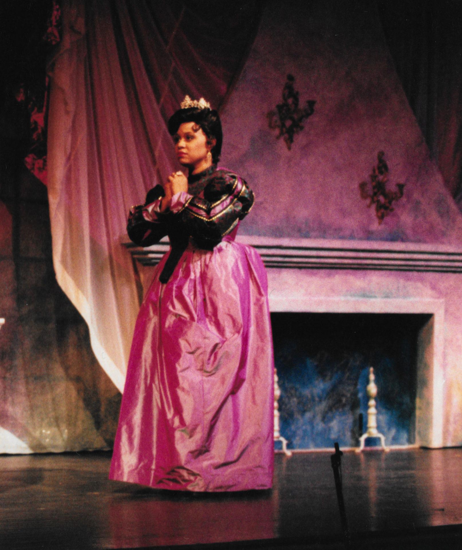 Anita on stage in Cinderella.